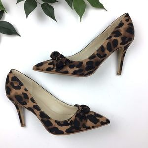Marc Fisher Doreny Leopard Bow Pump Heels